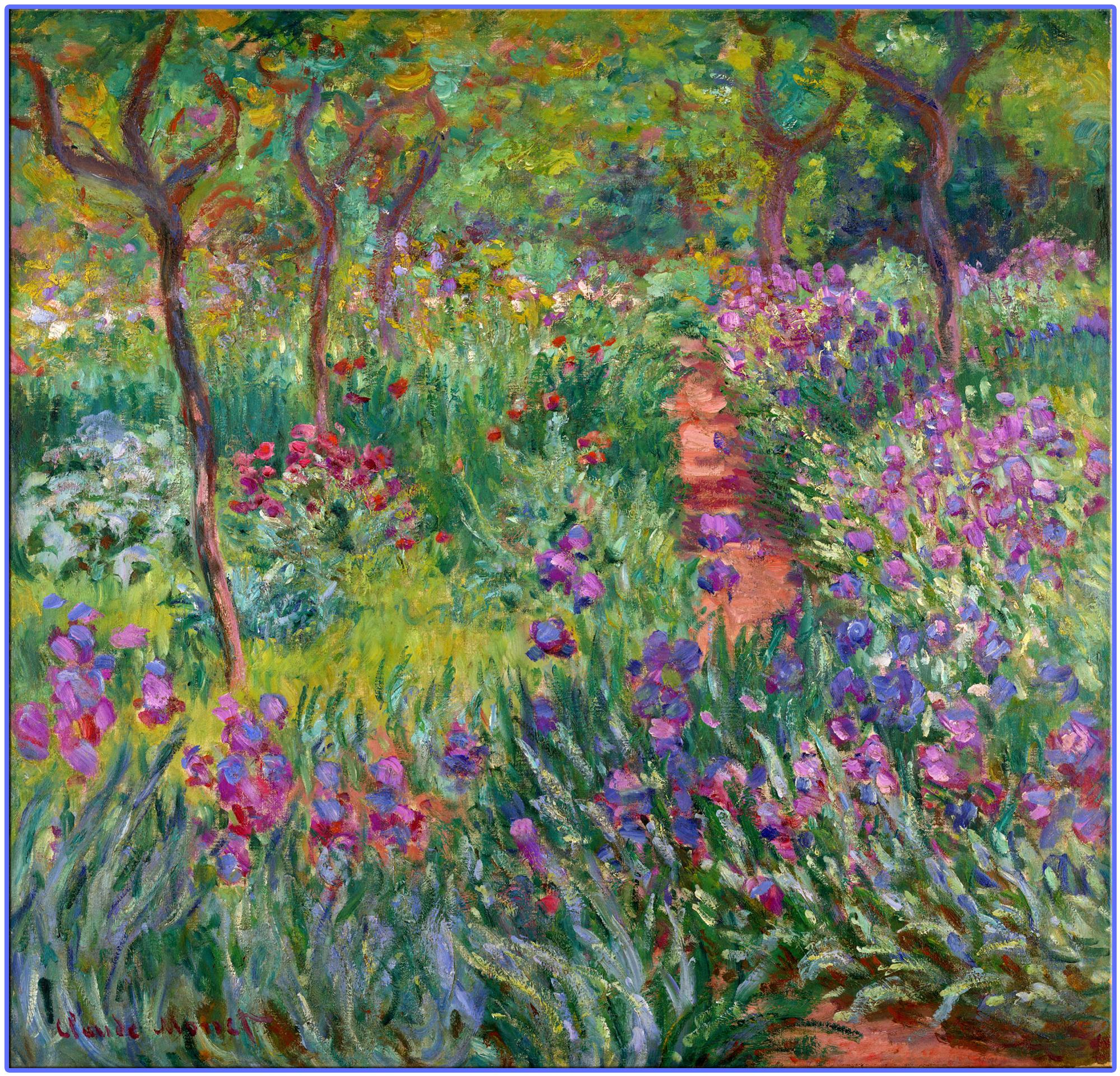 Обои Девушки в Саду, жанровая, картина, Клод Моне. Разное foto 14